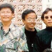 Từ trái, Kỳ Phát, Jo Marcel, Trường Kỳ, Tùng Giang, và Nam Lộc năm 1994. (Hình: Trần Đình Thục cung cấp)